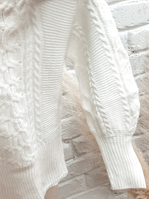 Winter White Knit Sweater