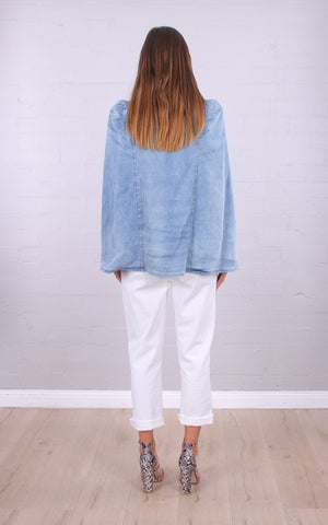 Winona Denim Cape Jacket