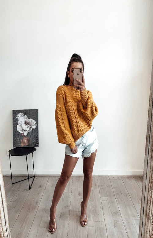 Mellow Yellow Cable Knit - Preorder