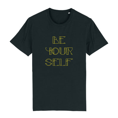Be Yourself Yellow Text Men's Organic T-Shirt-Danny Tenaglia Store