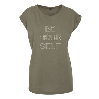 Be Yourself White Text Women's Casual T-Shirt-Danny Tenaglia Store