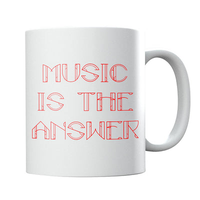 Music Is The Answer Red Text Mug-Danny Tenaglia Store