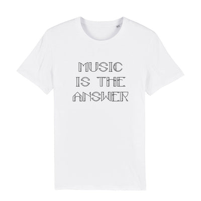 Music Is The Answer Black Text Men's Organic T-Shirt-Danny Tenaglia Store