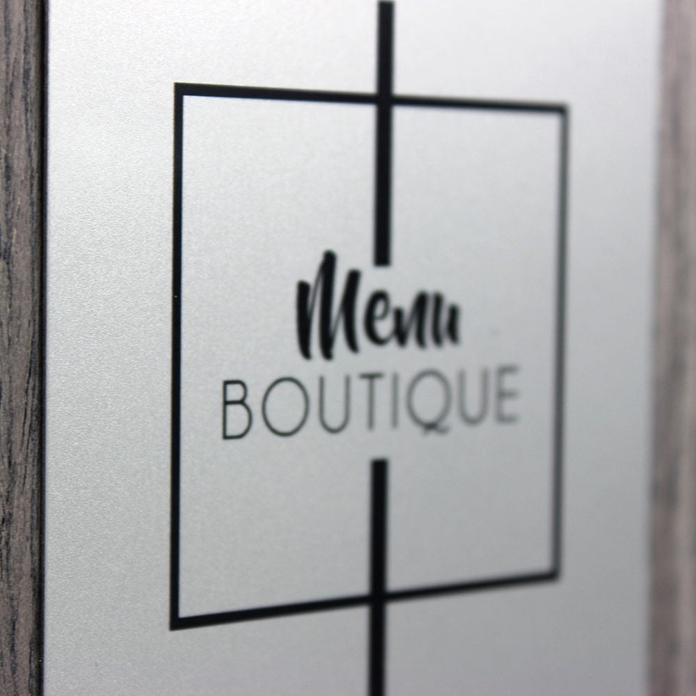 Menu Contemporain - Menu Boutique