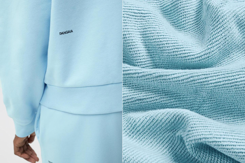 Close up of Pangaia's fabric and material innovation.