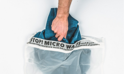 Image of a Guppyfriend bag to reduce microfibre release.