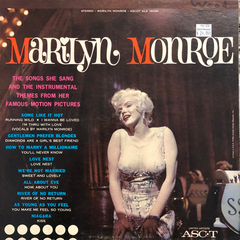 "Monroe, Marilyn ""Songs She Sang And The Instrumental Themes..."""