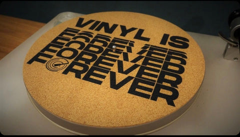 Vinyl Is Forever Cork Mat