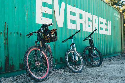 Bikes at Container at Legacy Bike Park