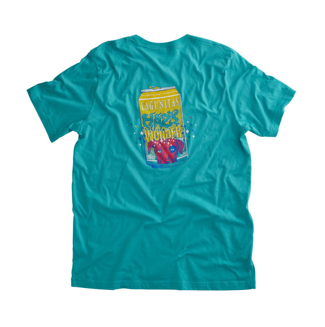 This tee's light and bright (just like the beer) but way, way more wearable. The shade of teal is so tasty, we can only describe it as ✨Wondrous✨.  Color: Teal  Material: 100% Cotton