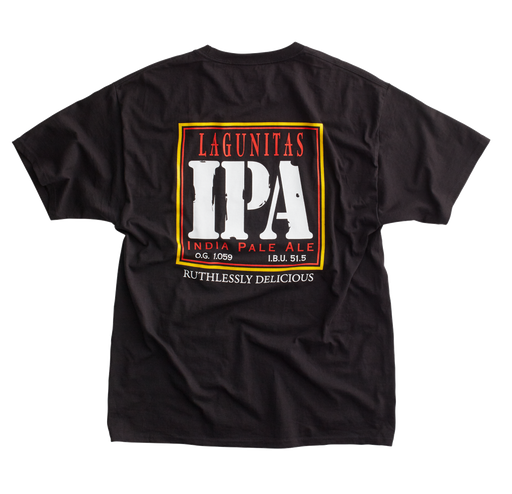 Ruthlessly Delicious. Devastatingly Classic. As the IPA that defined the style, this IPA shirt never goes out of style.  Color: Black  Material: 100% cotton