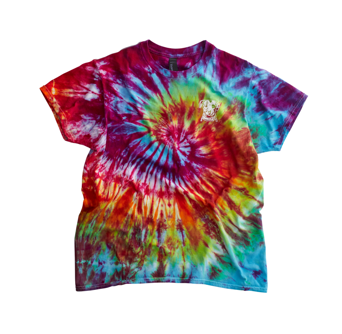 If every color under the rainbow can coexist peacefully on a shirt, then surely all of us can have a seat together at the same bar and enjoy an IPA. We sure as hell can't all fit in the same shirt.   Color: Tie-Dye  NOTE: Colors vary. Hand-dyed, so no two are exactly alike.  Material: 100% cotton
