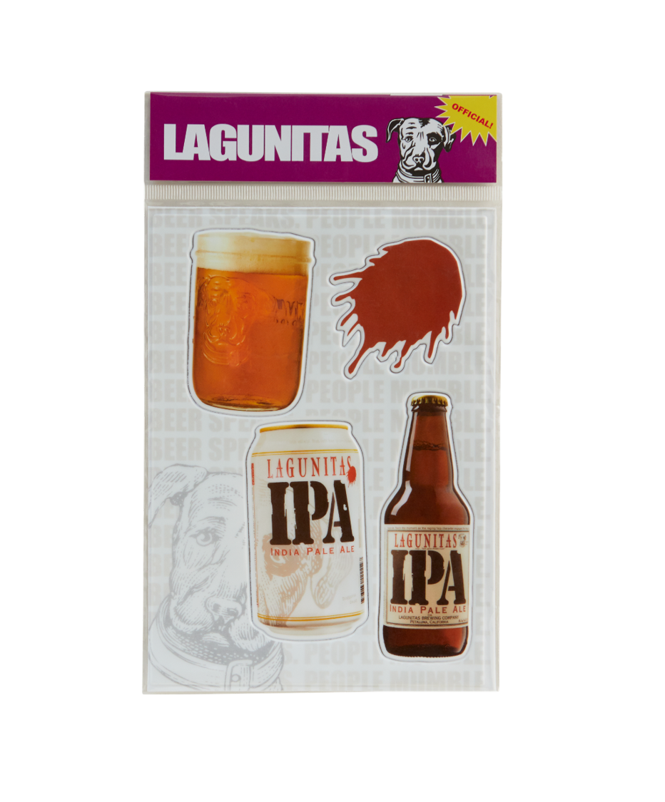 Regular stickers are so ... one dimensional. And since variety are the hops of life, here's a bunch of different puffy Lagunitas designs to stick on your laptop, growler, water bottle or whatever.