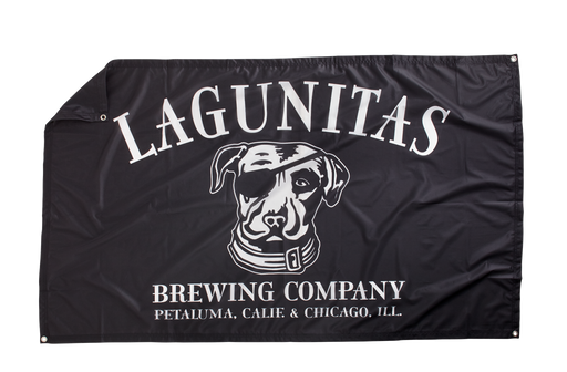 "Ye scallywags don't need a ship mast or flagpole to fly this Lagunitas Pirate Flag, just a wall about yarr big... 60"" x 35"""