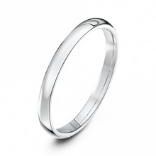 Load image into Gallery viewer, 9ct White Gold Court Style Wedding Ring - 2mm