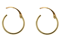 Load image into Gallery viewer, 9ct Gold Creole Hoop Earrings 13mm - Yellow Gold