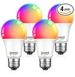 Alexa Smart Light Bulbs Color Changing 4 Pack