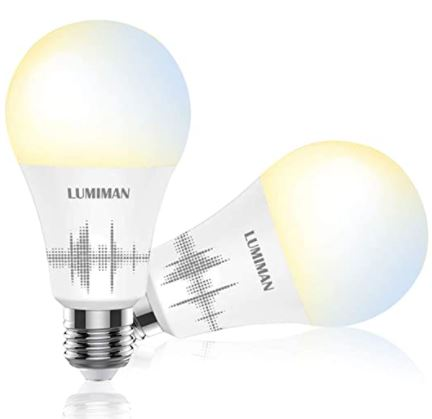 Smart WiFi Light Bulb A19 E26 2 Pack
