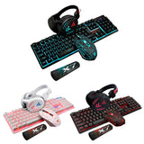 4Pcs/Set K59 Wired USB Keyboard Illuminated Gamer Mouse Pad-AIVI-X