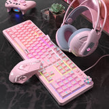 Girl gamer keyboard headset and mouse set-AIVI-X