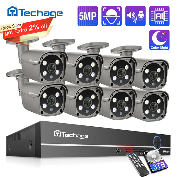 Security Camera System 8CH 5MP HD POE NVR Kit