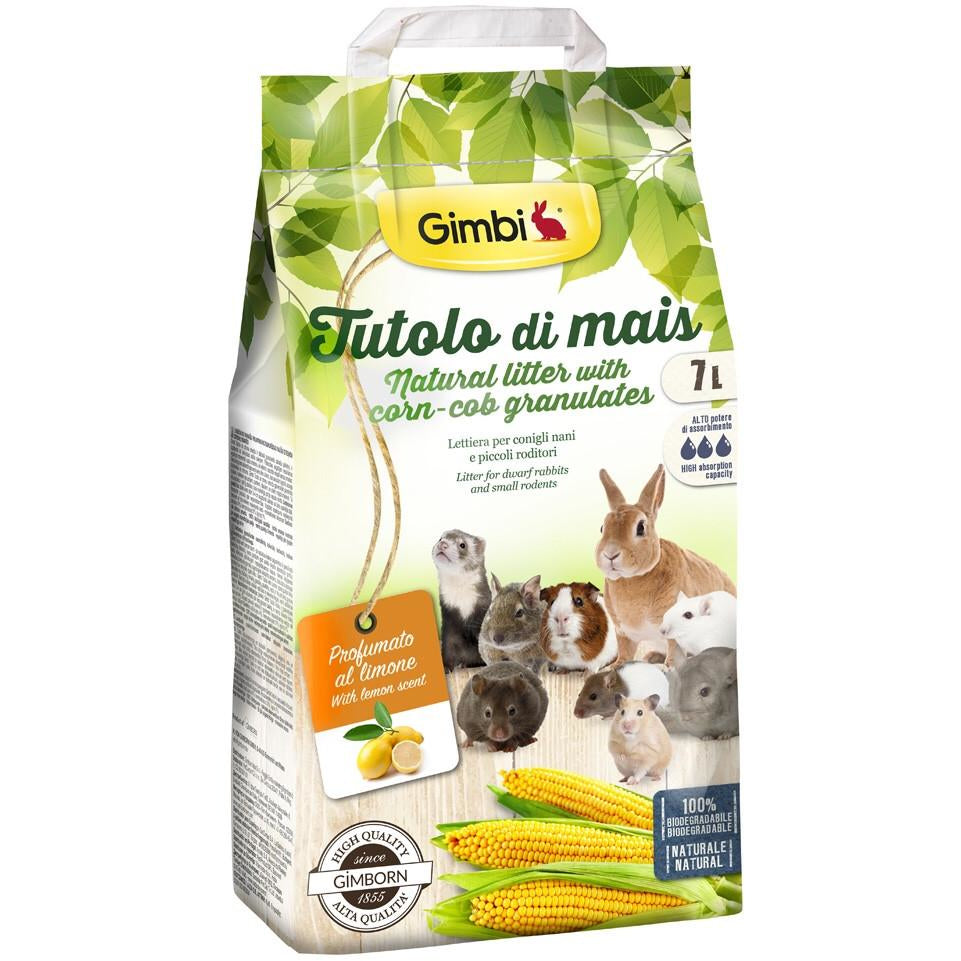 Lettiera a base di tutolo integrata al limone 7 L