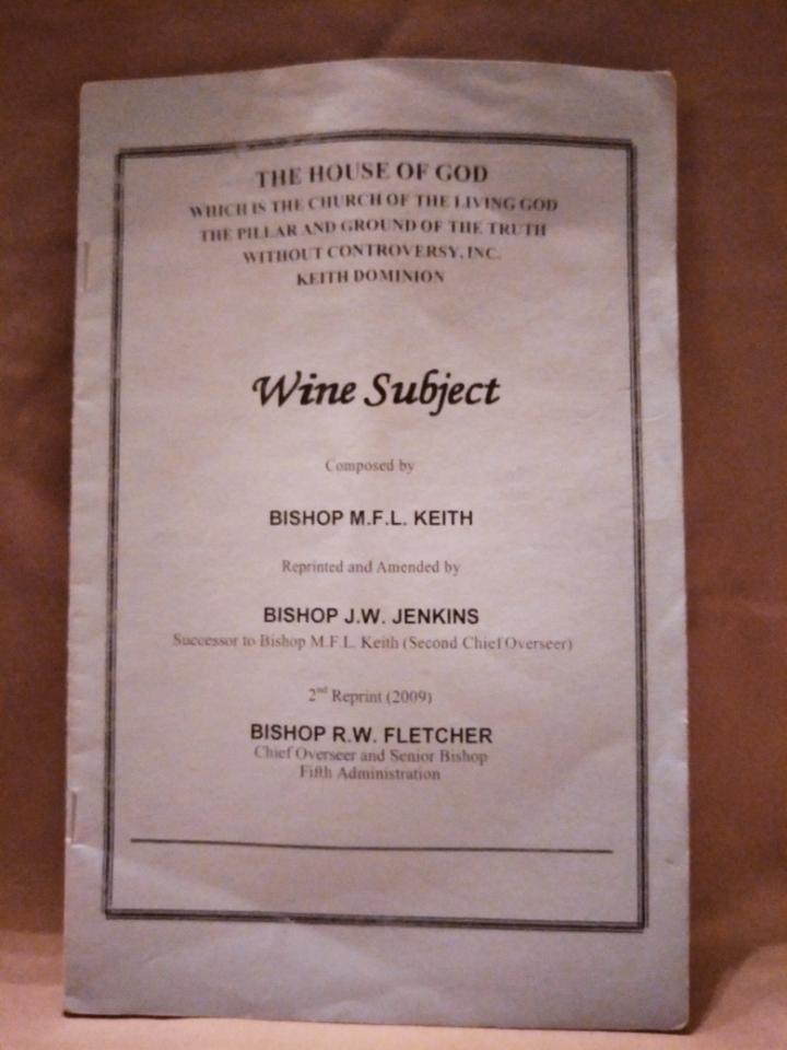 Wine Subject