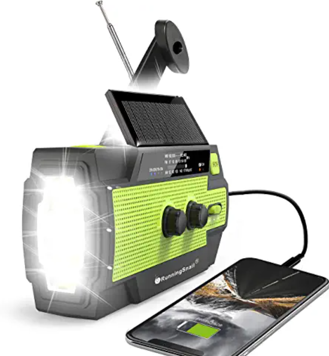 Solar Powered Multifunction Radio Battery and Flashlight