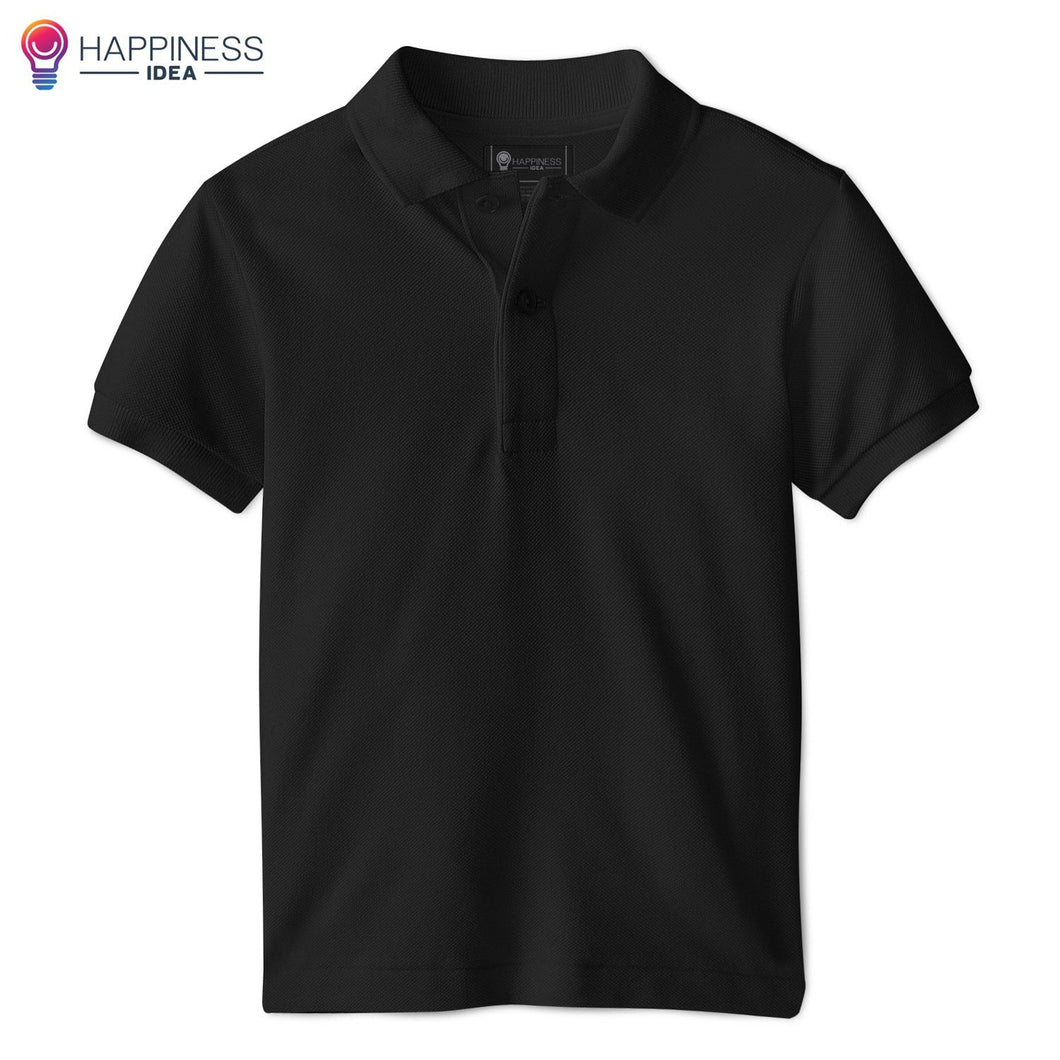 Men's Regular-fit Premium Cotton Polo Shirt - Happiness Idea