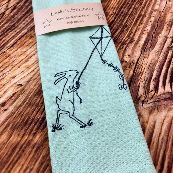 047-02 Embroidered Dish Towels - Leslie's Stitchery