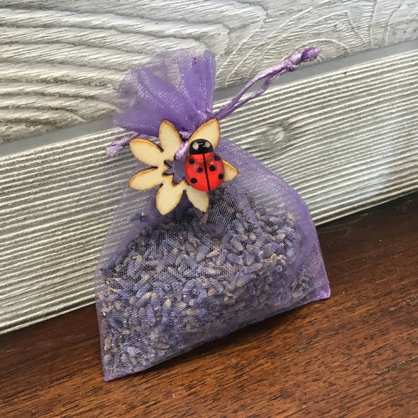 007-53 Lavender Satchels - Lady Bug Blossoms