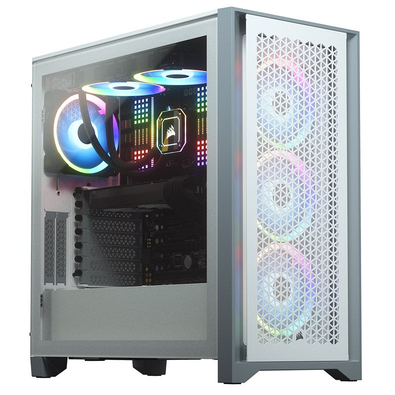 Corsair 4000D Airflow Tempered Glass Mid-Tower ATX Case - White