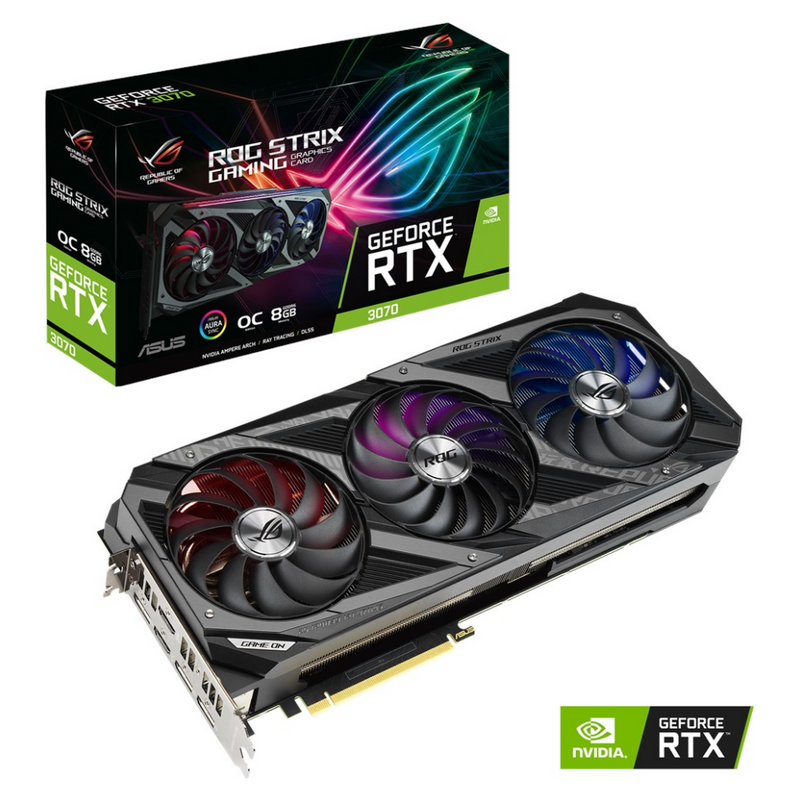 ASUS GeForce RTX 3070 ROG STRIX OC 8GB Video Card