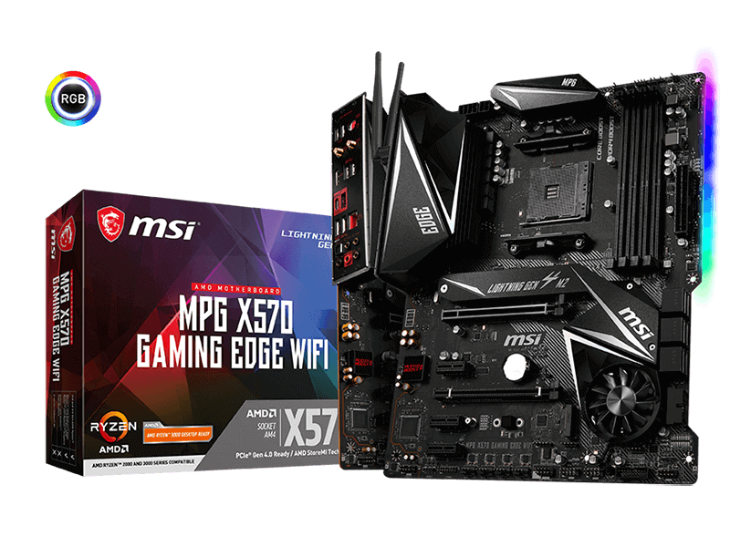 MSI MPG X570 GAMING EDGE WIFI AM4 ATX Motherboard