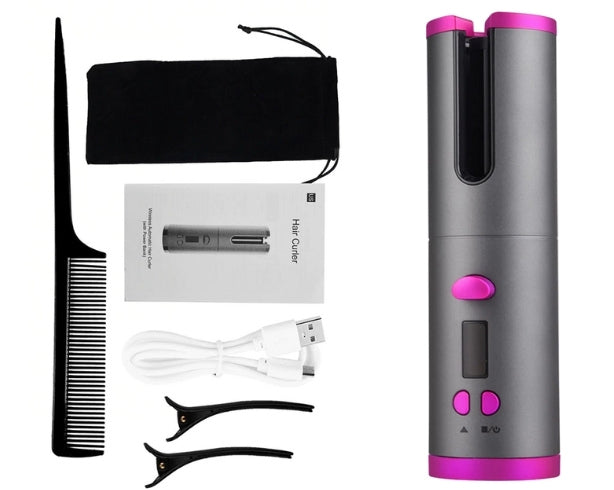 Wireless hair curler automatic