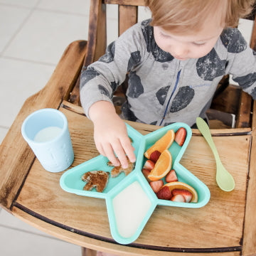 silicone kids divided plate
