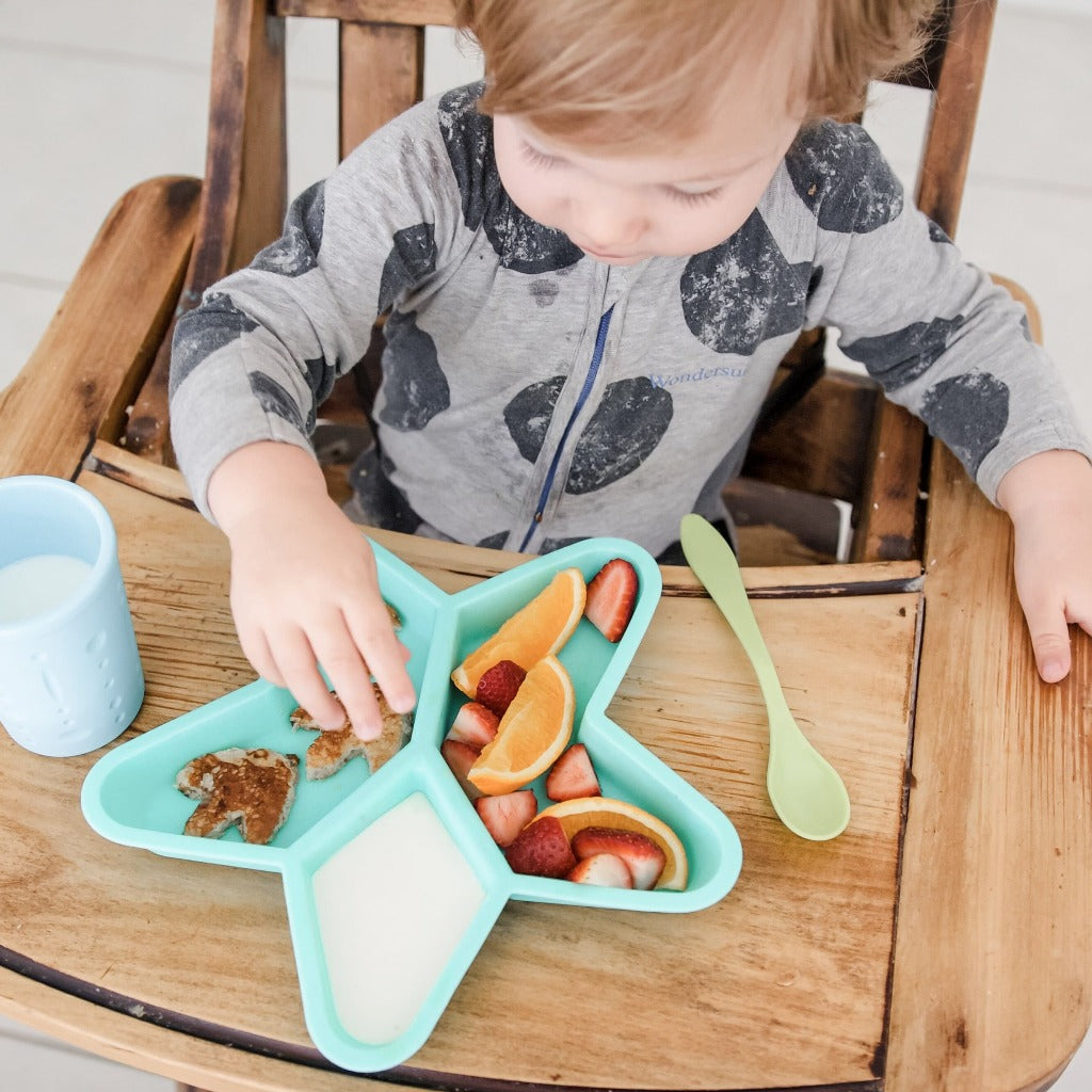 star silicone kids divided plate
