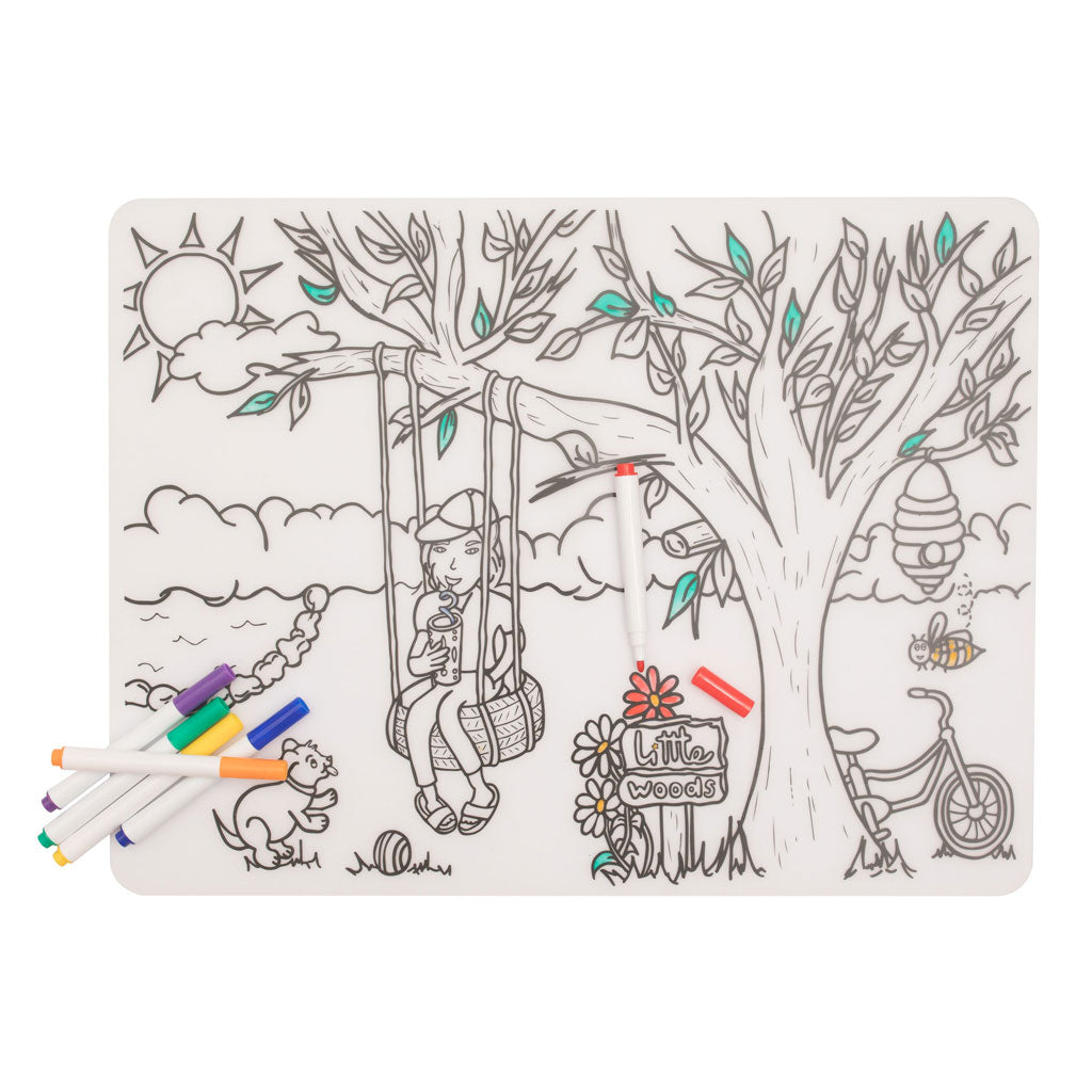 silicone colouring in placemat