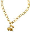 Odelle cherry necklace/ bracelet - gold