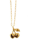 Odelle cherry necklace - gold