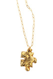 Puzzle necklace - gold