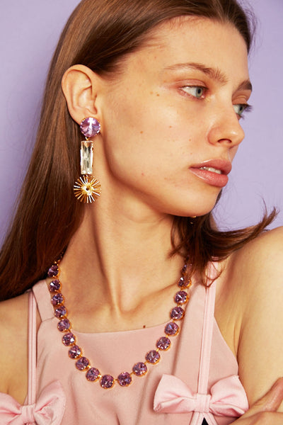 Sunray earrings - lilac
