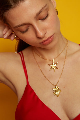 Orion star necklace - gold