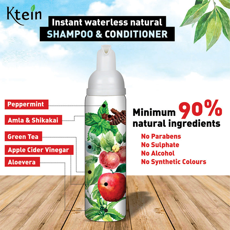 Waterless Hair Cleanser 70ml - Ktein Cosmetics - Essencec Of Natural Hair Care Product