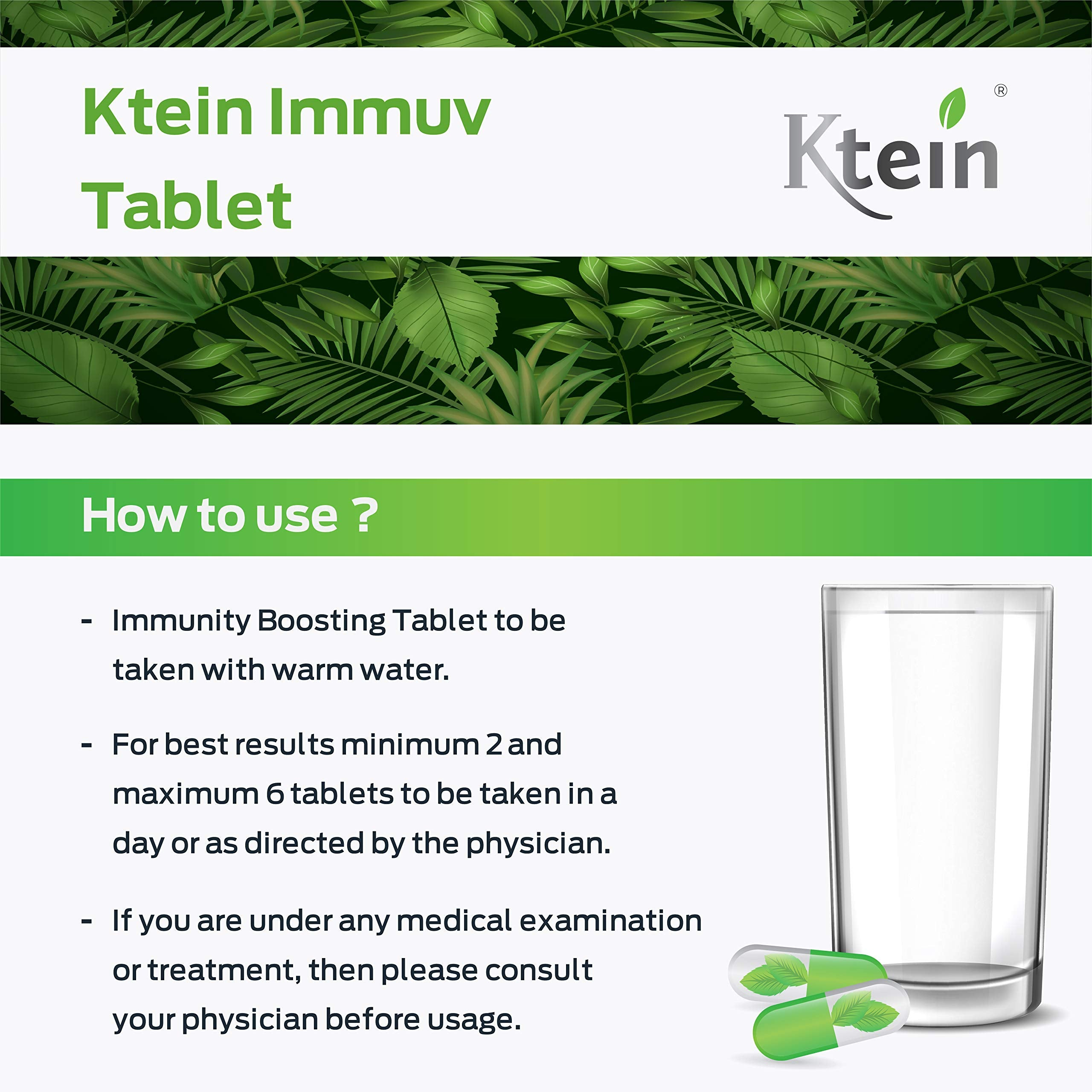 Ktein Immuve Tablets - Ktein Cosmetics - Essencec Of Natural Hair Care Product