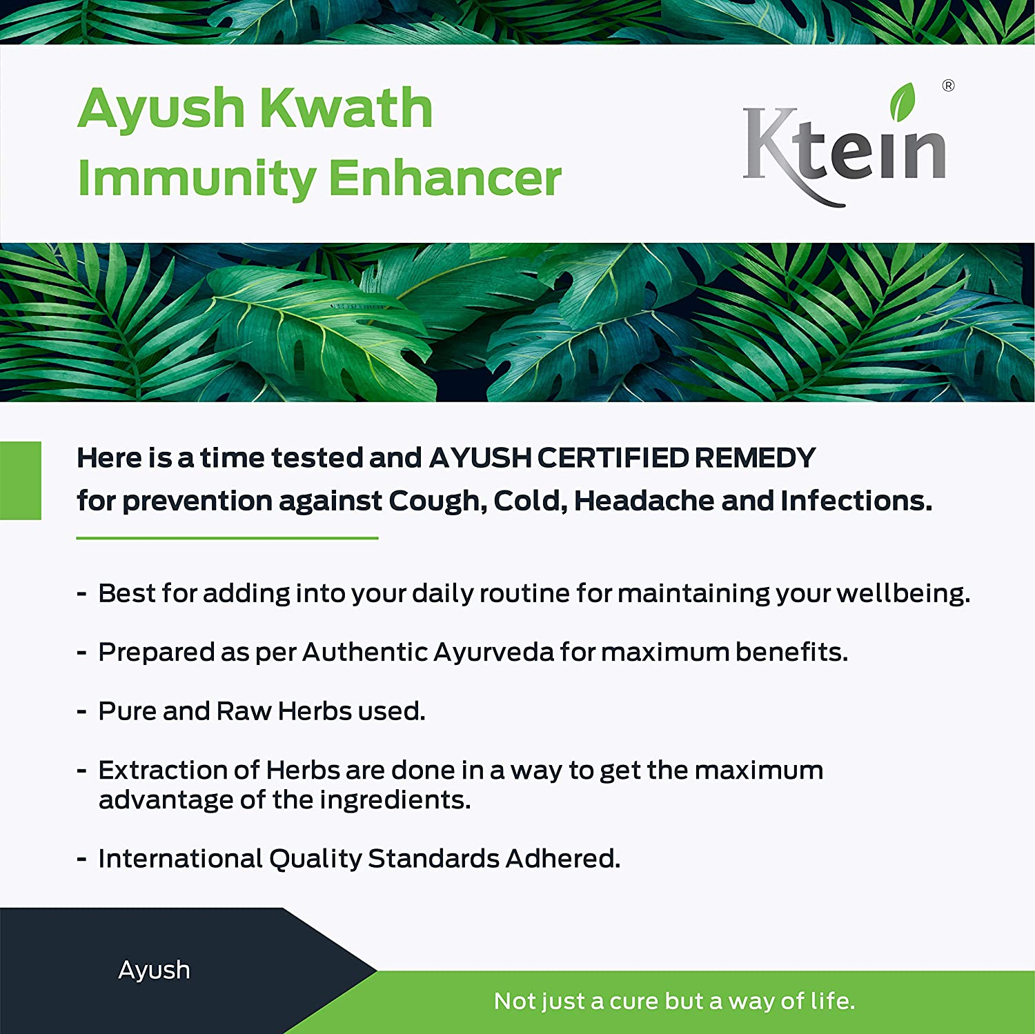 Ktein Ayush Kwath Immunity Enhancer 200gm - Ktein Cosmetics - Essencec Of Natural Hair Care Product