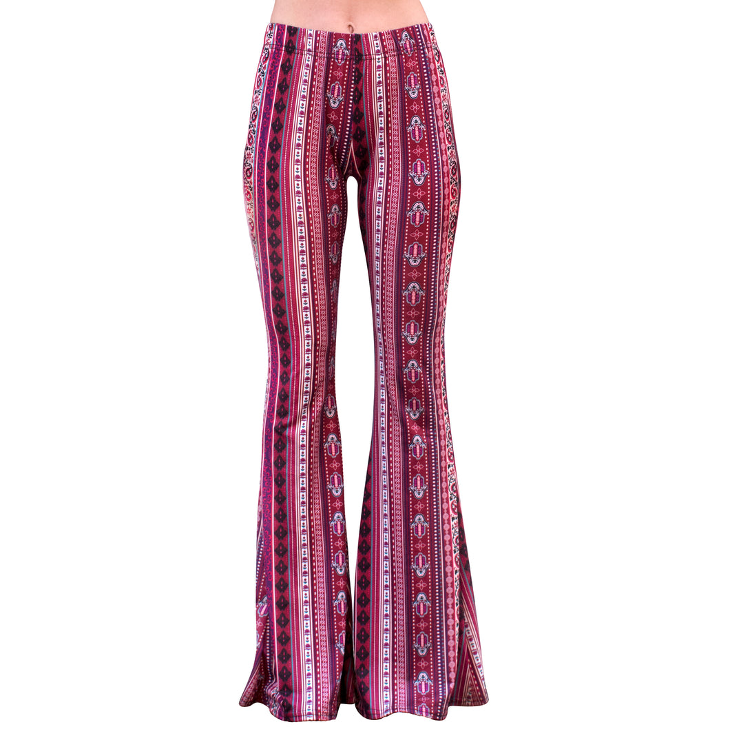 Flare Bell Bottoms - Berry