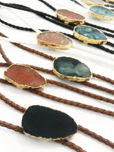 Load image into Gallery viewer, Gemstone Bolo Tie - Onyx