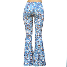 Load image into Gallery viewer, Flare Bell Bottoms - Indigo Floral