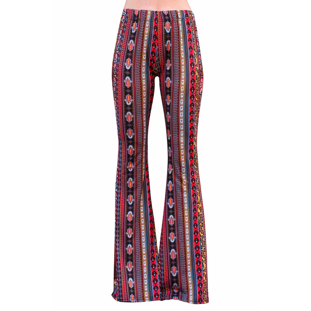 Flare Bell Bottoms - Red/Yellow